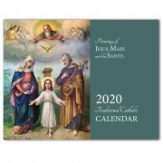 2020 Wall Calendar: Jesus, Mary and the Saints