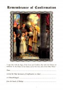 Sacramental Certificate: Remembrance of Confirmation